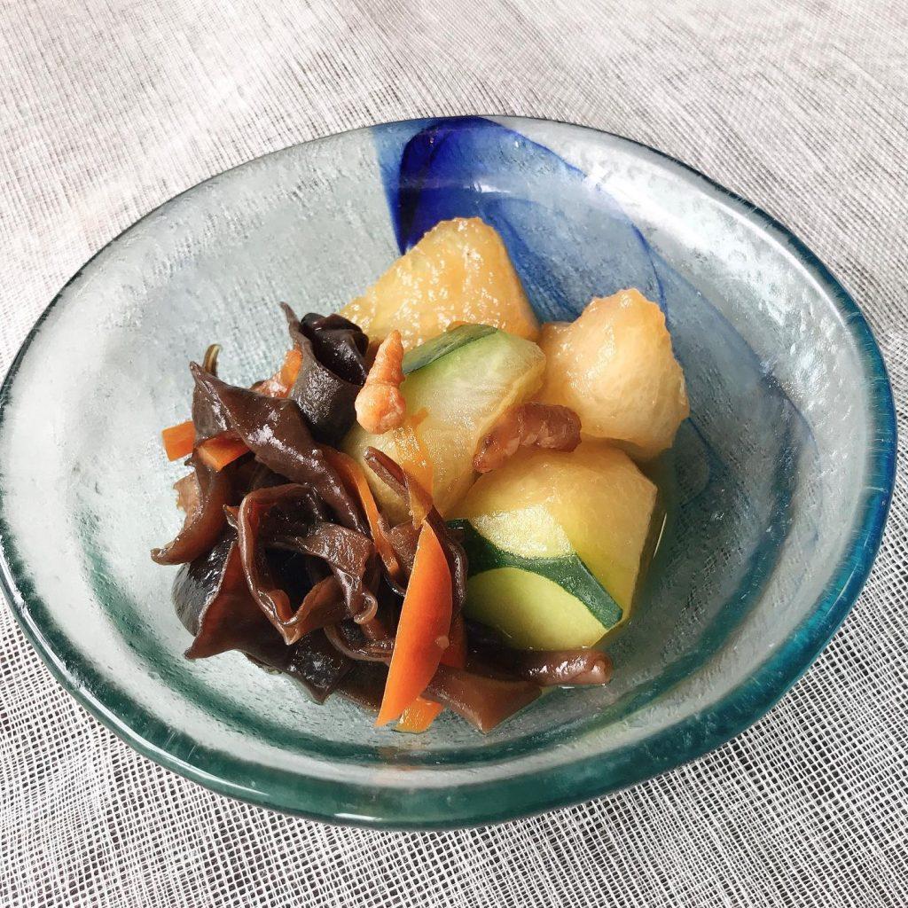 ️夏の薬膳|冬瓜と黒キクラゲの干しエビ煮
