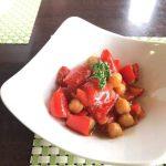 春の薬膳|パプリカとひよこ豆の白ワイン煮 クミン風味